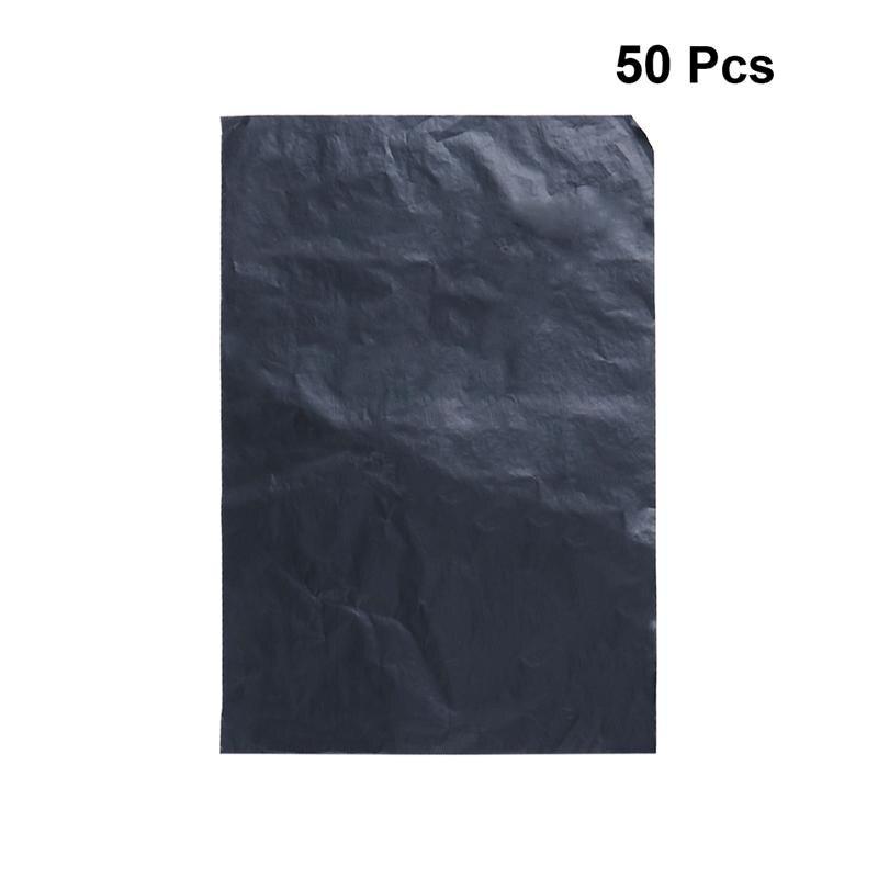 50pcs Paper Practical Creative Funny Useful Black Carbon Paper Carbon Papers Carbon Transfer Tracing Paper Graphite Carbon Paper
