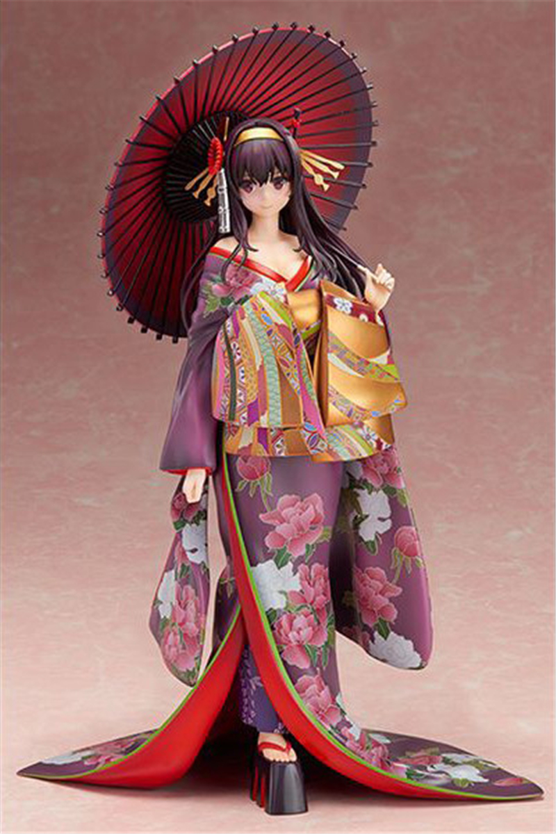 PVC Figure Toy Anime Saenai Heroine No Sodatekata Kasumigaoka Utaha Kimono Ver