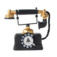 Vintage Telefon Harz Modell Miniatur Telefon Figurine Antike Handwerk Hause Büro Dekoration Geburtstag Hochzeit Geschenk Schwarz-in Dekorative Telefone aus Heim und Garten bei