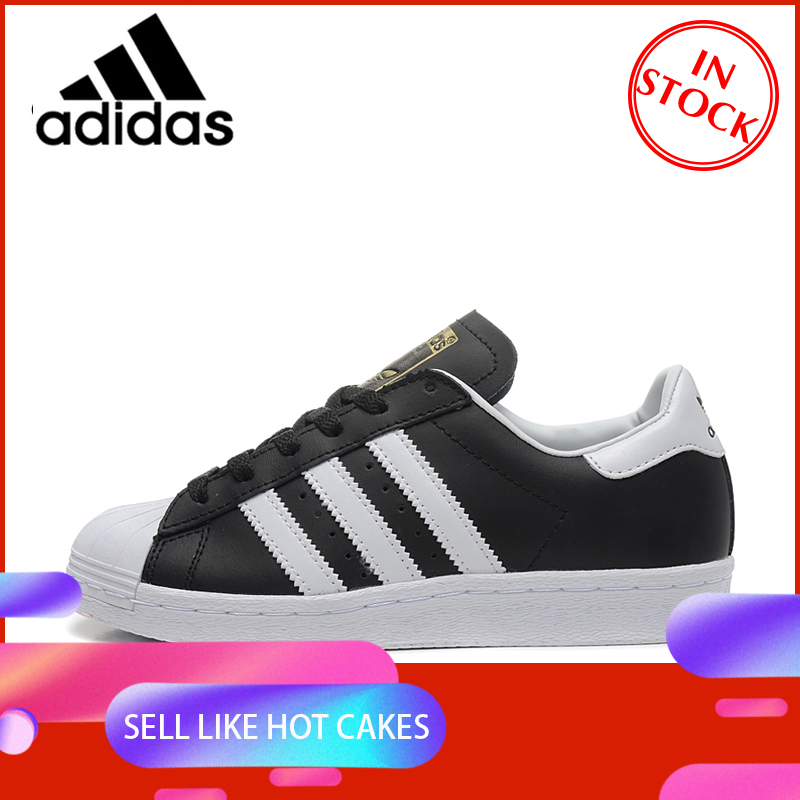 Official Original ADIDAS Clover Superstar Men And Women Skateboard Shoes Black Outdoor Classic Fashion Sports Shoes Wear G61069