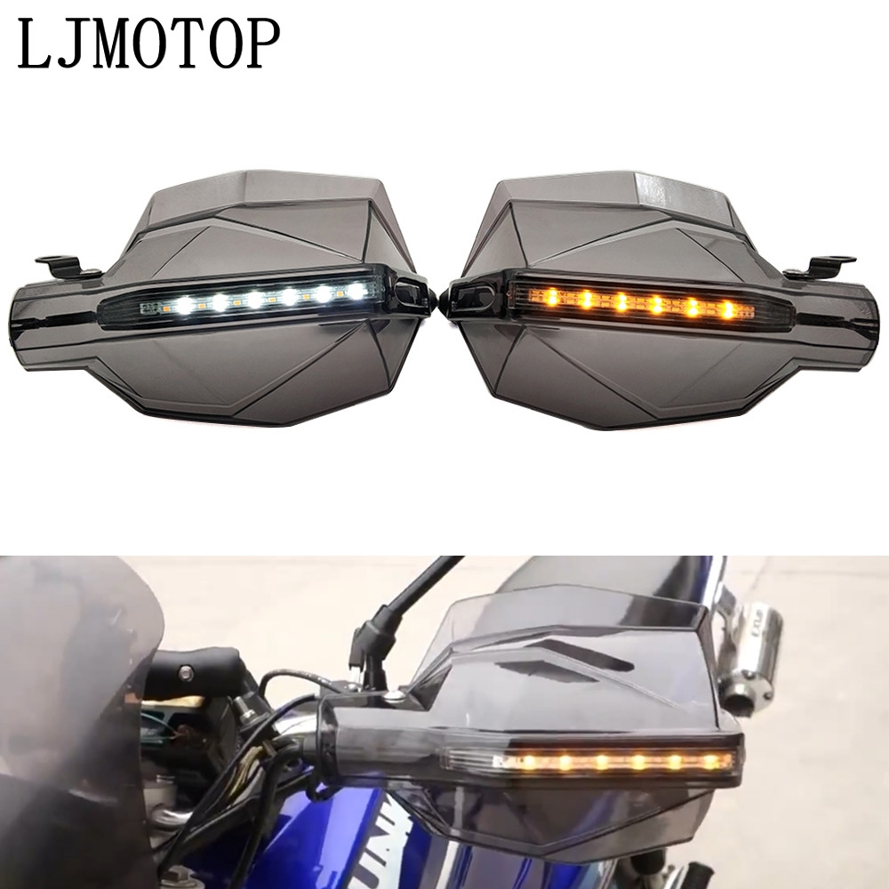 Motorcycle Hand Guard Handle Protector HandGuards with <font><b>LED</b></font> Signal Light For BMW K1600GT/GTL R1200GS ADVENTURE R1250GS <font><b>R1200R</b></font> image