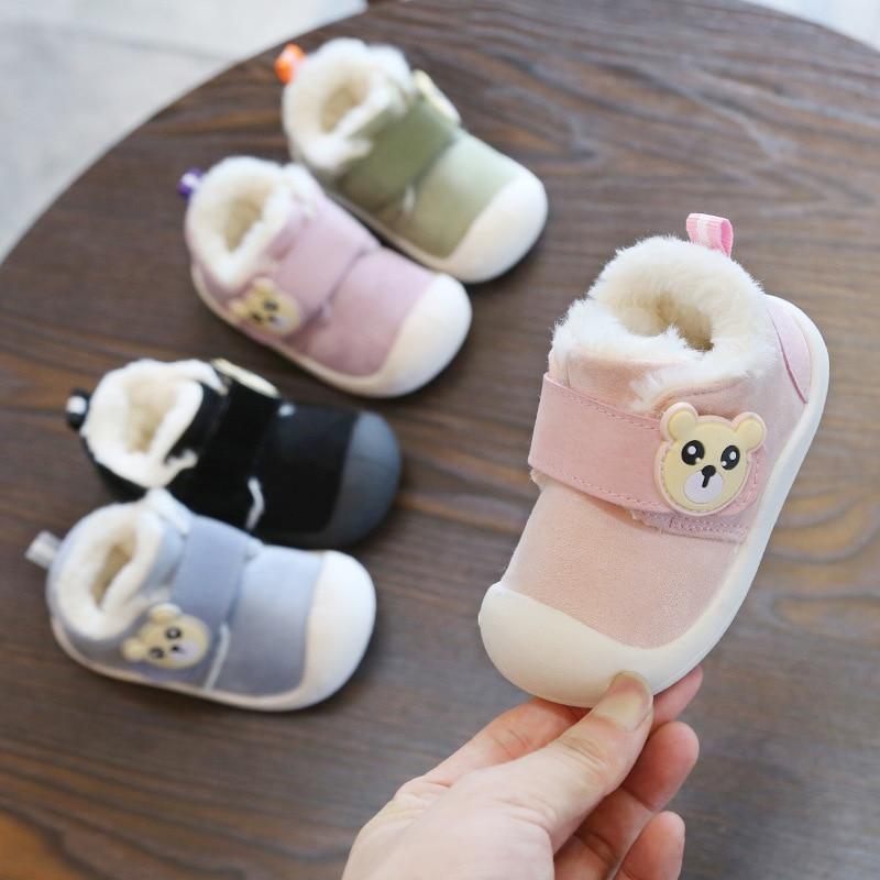 Infant Toddler Shoes Baby-Boy-Girls Boots Non-Slip Soft-Bottom Winter New Warm Child