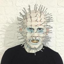 Hellraiser Pinhead Horror Mask Party Carnival Mascaras Head Nail Man Movie Cosplay Halloween Latex Scary Masks Spoof Props