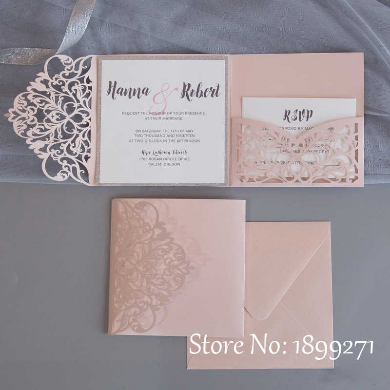 Partecipazioni Matrimonio Wedding.1pcs Blush Faire Part Mariage Invitaciones De Boda Svadebnye