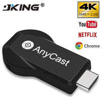 1pcs Anycast m4plus Chromecast 2 mirroring più TV stick Adattatore Mini Android Cromo Cast HDMI WiFi Dongle 1080P più nuovo