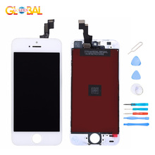 AAA Quality LCD Display for iPhone 5 5C 5S SE LCD Touch Screen Digitizer Full Assembly Screen Replacement for iPhone SE + Tools защитное стекло полноклеевое full screen для apple iphone 5 5c 5s se черное