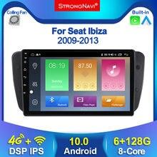6 + 128G Android 10,0 coche DVD Radio para asiento Ibiza 6j 2009, 2010, 2012, 2013 navegación GPS 2Din de Audio de la pantalla reproductor Multimedia