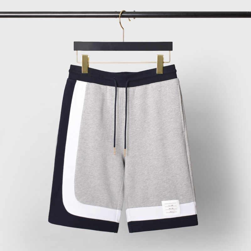 2020 Mannen Contrast Kleur Causale Shorts Mode Patchwork Zomer Sport Shorts Mannen Katoen Korte Broek Jeugd