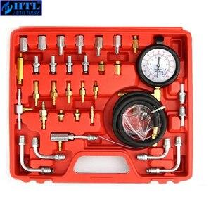 Image 4 - TU 443 deluxe manômetro medidor de pressão combustível kit teste do motor bomba injeção combustível tester sistema completo