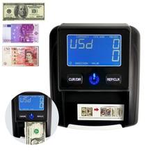 Машинка для денег УФ светодиодный/ЖК-дисплей с лампой, удобный детектор банкнот, USD/EUR/GBP/рубль/BRC, поддельные деньги, евро,деньги фальшивые детектор, счетчик банкнот касса купюры