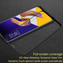SFor Asus zenfone 5z ZE620KL temperli cam IMAK tam kapak Pro + ekran koruyucu Asus zenfone 5z ZE620KL
