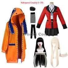 Anime Kakegurui Compulsive Gambler Runa Yomozuki Jabami Yumeko Cosplay Costume Full Set Runa Yomozuki Jabami Yumeko Cosplay Wig