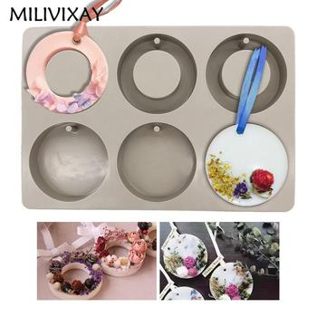 MILIVIXAY 20.3cmx13.7cmx1cm DIY Soap Flower Candle Mould Aromatherapy Wax Silicone Molds Clay Craft Resin Mold