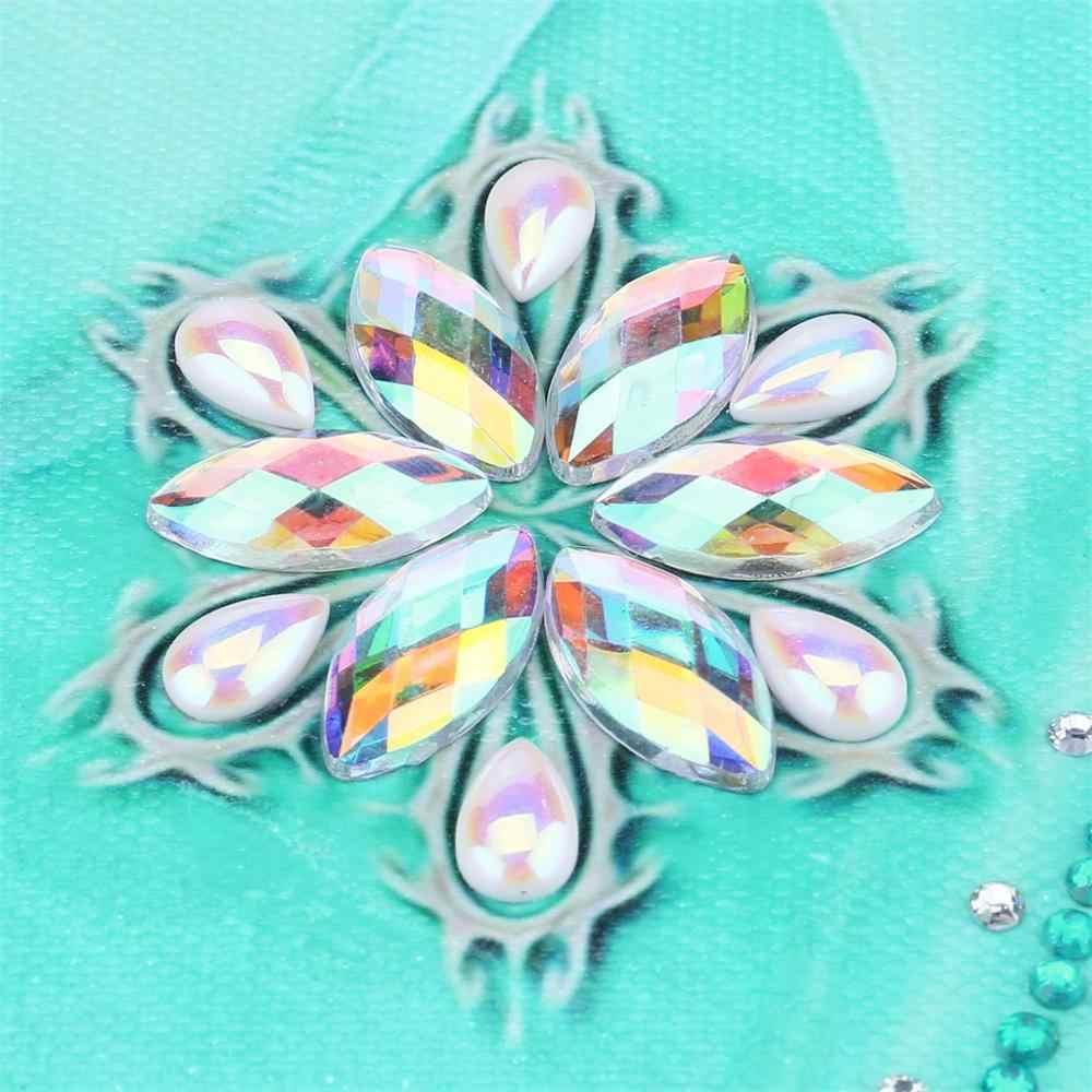 DIY 5D Berbentuk Khusus Diamond Lukisan Hewan Bunga Agama Butterfly 3D Gambar Berlian Bordir Anak Hadiah Natal