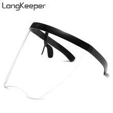 Модные солнцезащитные очки оверсайз с защитным козырьком для