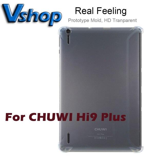 Caso da tabuleta para chuwi hi9 mais silicone transparente capa protetora para chuwi hi9 mais caso capa traseira
