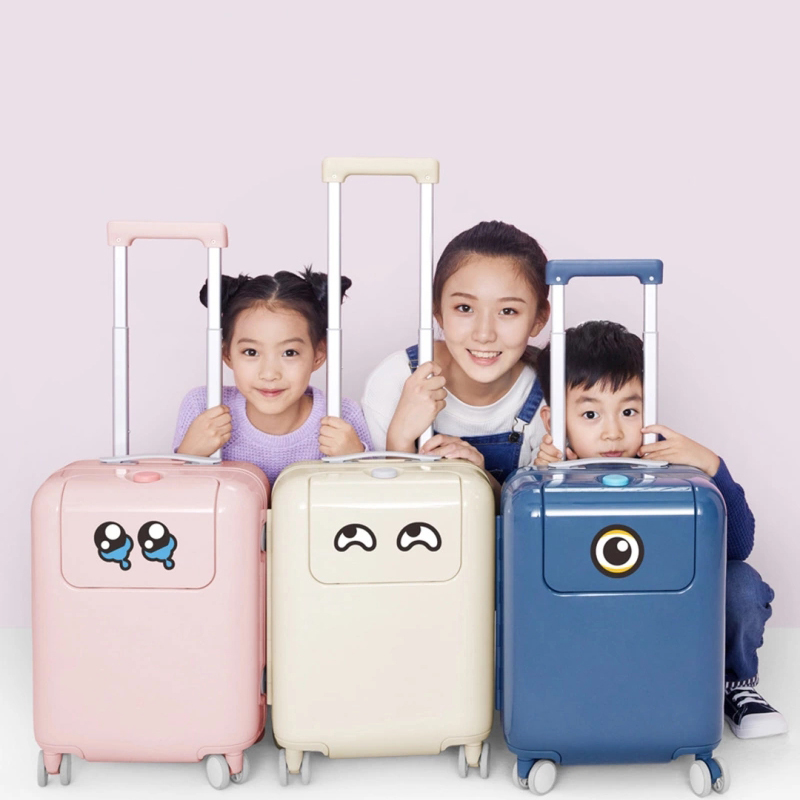 17 Inch Suitcase 26L Luggage Waterproof Camping Travel Trolley Case With DIY Sticker Kawaii Makrolon Child Travel Luggage