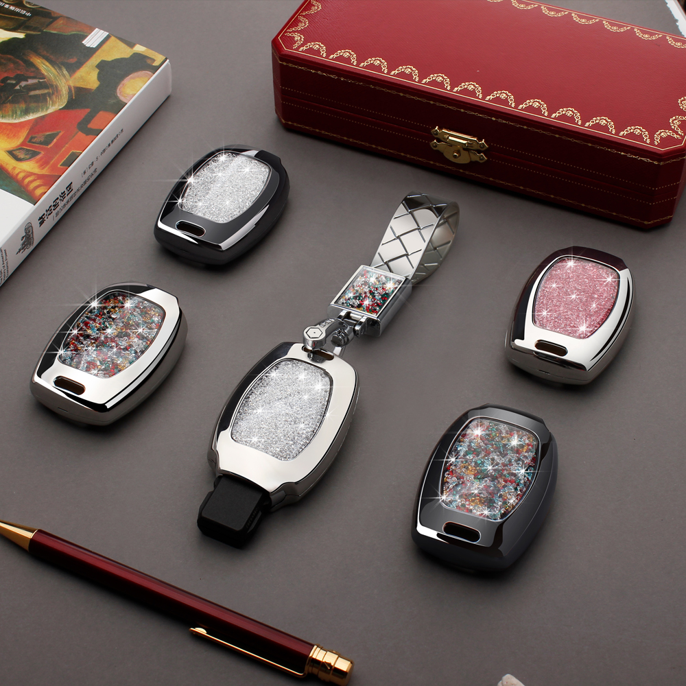 Car Key Bag Case Cover Key Holder Chain For Mercedes benz W251 W463 C180 E200 GLK300 GLK GLA SLK AMG A B C R G E class Auto Part