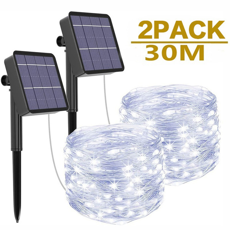 String-Lights Fairy Christmas-Lawn Holiday Wedding-Party Garden Solar Outdoor Led