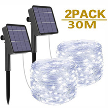 String-Lights Fairy Christmas-Lawn Led Holiday Wedding-Party Garden Solar Outdoor 1/2pack
