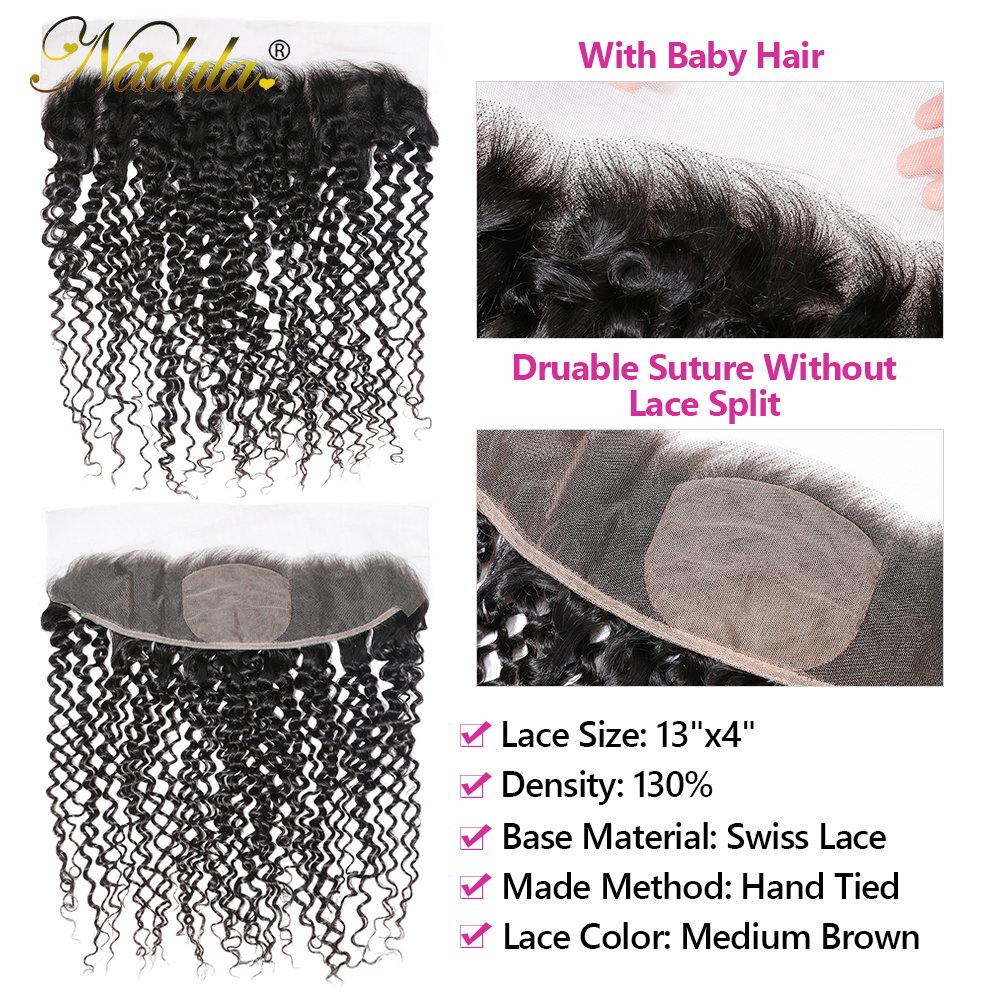 Nadula Hair  Body Wave Frontal Closure 100%  Frontal 13x4 Lace Frontal With Pre Plucked 4x4 Silk Base 2