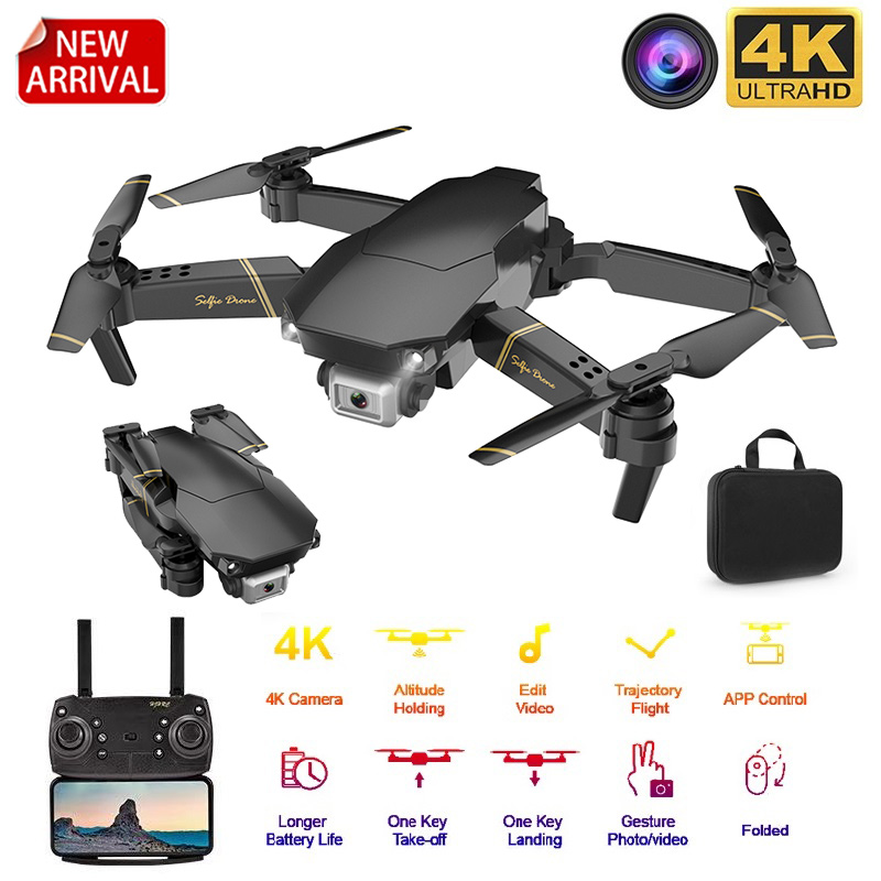 2020 New Drone GD89 WIFI FPV Drone With Wide Angle HD 4K 1080P Camera Height Hold Mode RC Foldable Quadcopter Gift For Kids(China)