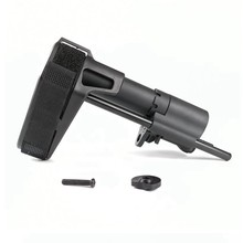 Tático pistola de estabilização cinta rifle buttstock estoque com buffer tubo m4 m16 ar15 receptor estoque gel bola airsoft acessórios