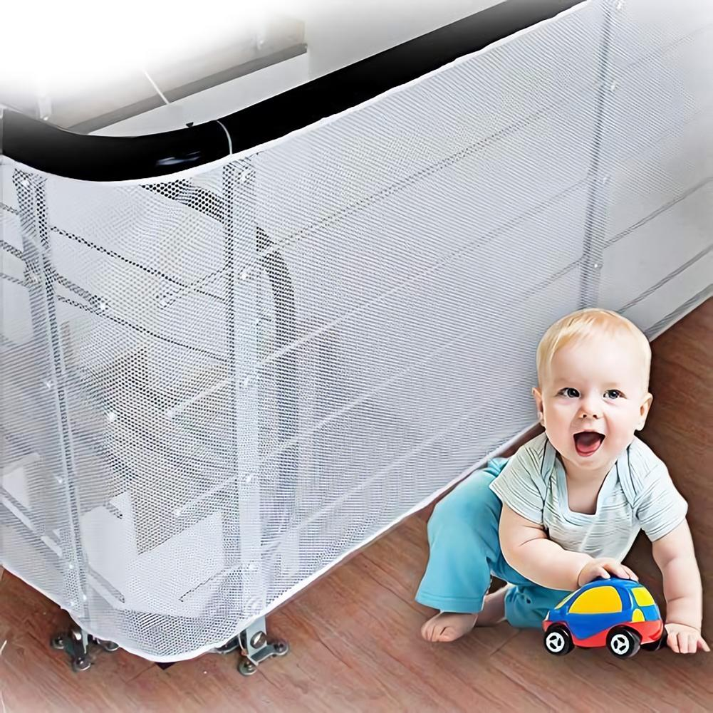 Baby Kids Safety Net Thickened Fence Mesh Home Balcony Stairs Rail Protection Safety Net Domestic Stair Safety Easy To Install