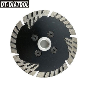 DT-DIATOOL 1pc 105mm/4 M14 Hot Pressed Diamond Turbo Saw Blade with Slant Protection Teeth Concrete Granite Marble Cutting Disc dt diatool 5pcs dia 4 105mm m14 thread hot pressed diamond turbo blades for stone concrete brick granite marble cutting discs