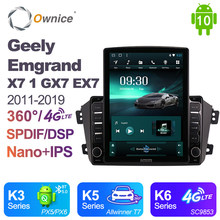 Ownice Android 10.0 For Geely Emgrand X7 1 GX7 EX7 2011 - 2019 Car Radio Auto GPS Map Navigation Wifi Bluetooth 5.0 DSP 4G LTE(China)