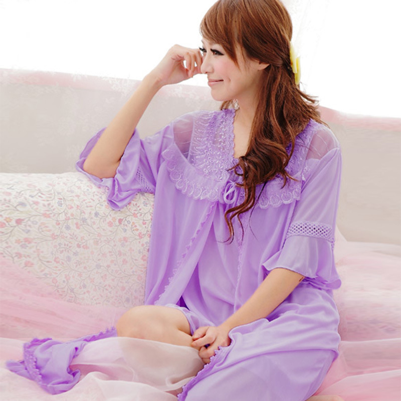 And Summer, Loose Size, 5 / 4 Sleeves, Ice Silk Pajamas, Two-piece Pajamas, Bathrobes, Wholesale And Distribution