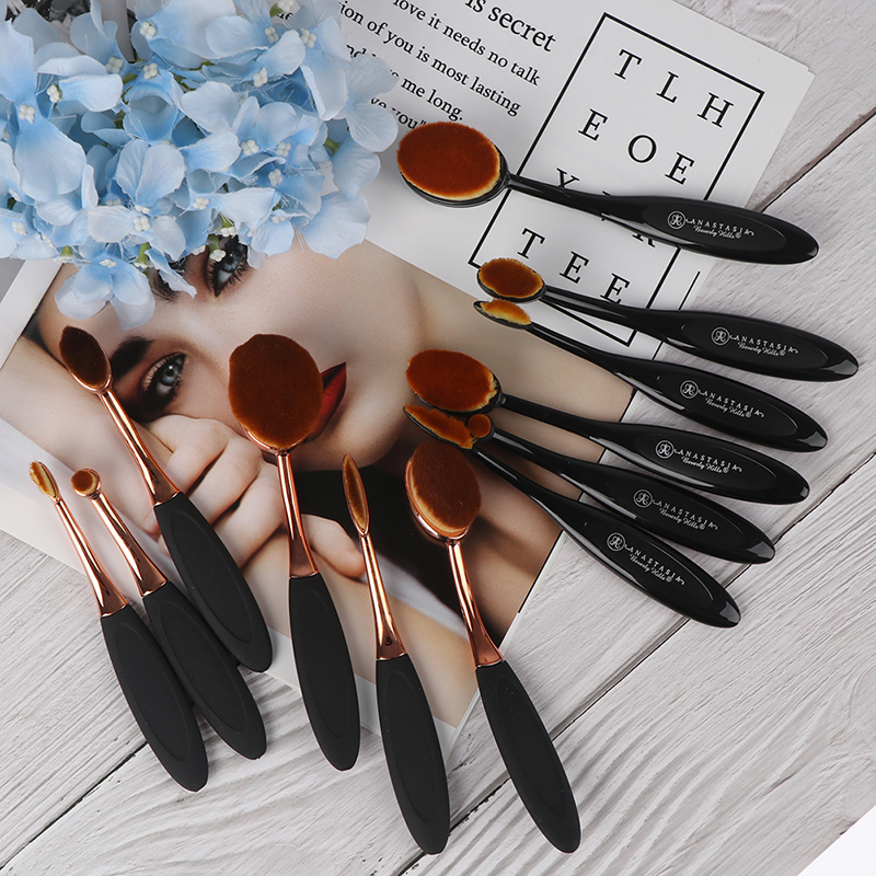 Profi 6Pcs Toothbrush Makeup Brushes Set Oval Cream Puff Brush Blush tools image