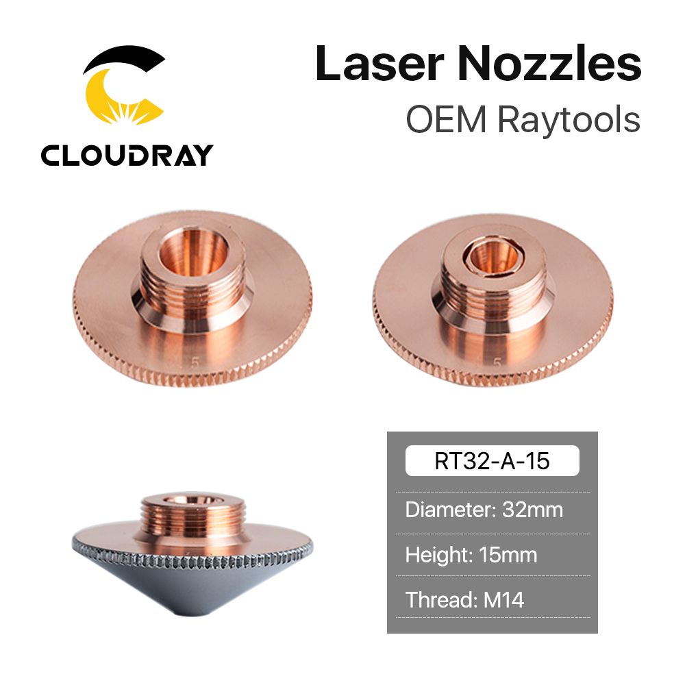 Cloudray Raytools Dia.32mm H15 Caliber 0.8-6.0 Single/Double Layers Welding Laser Nozzles For Fiber Laser Cutting CNC Machine