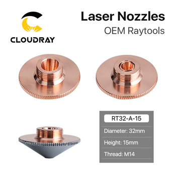 Cloudray Raytools Dia.32mm H15 Caliber 0.8-6.0 Single/Double Layers Welding Laser Nozzles for Fiber Laser Cutting CNC Machine cloudray laser bulge nozzle single layer caliber 0 8 4 0hd for precitec 1064nm fiber laser cutting head machine