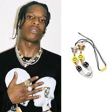 Новый принтом Трэвиса Скотта, Цепочки и ожерелья улыбка человек Для женщин в стиле «хип-хоп» вечерние ювелирные изделия подарок в уличном с...