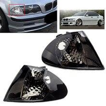 63136902765 63136902766 1 par frente do carro sinal de volta indicador canto luz habitação sem lâmpada apto para bmw série 3 e46 sedan
