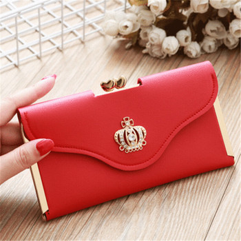 Women Small Wallet Clutch Leather Purse Long Card Holder Phone Bag Case Purse lady Handbags Coin Zipper Short Wallets tonuox women wallets cute dogs animal pattern casual lady coin purse pocket handbags long moneybags wallet pouch dog purses bags