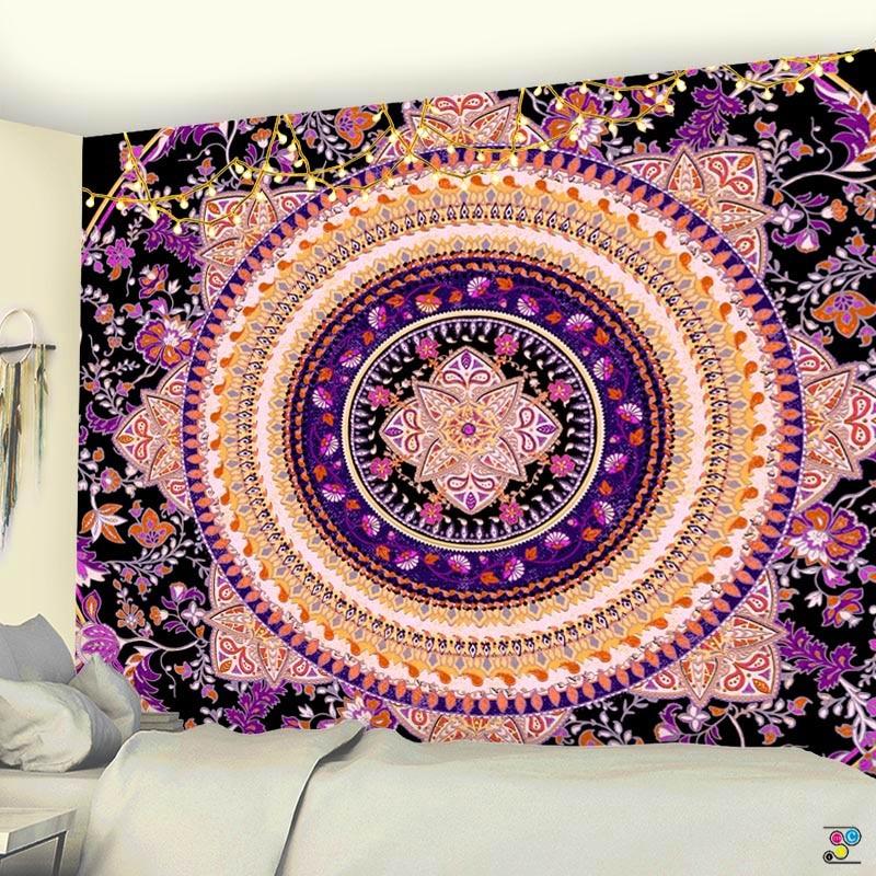 Wall Hanging Tapestry Mandala Bohemian Beach Mat Towel Thin Blanket Yoga Shawl
