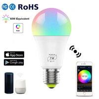 1/10pcs Smart Licht WiFi E27 Led Lampe Birne 7W RGBCW Kühlen Warme Lichter Neue Jahr Lichter arbeit Mit Alexa Google Home AC100-240V