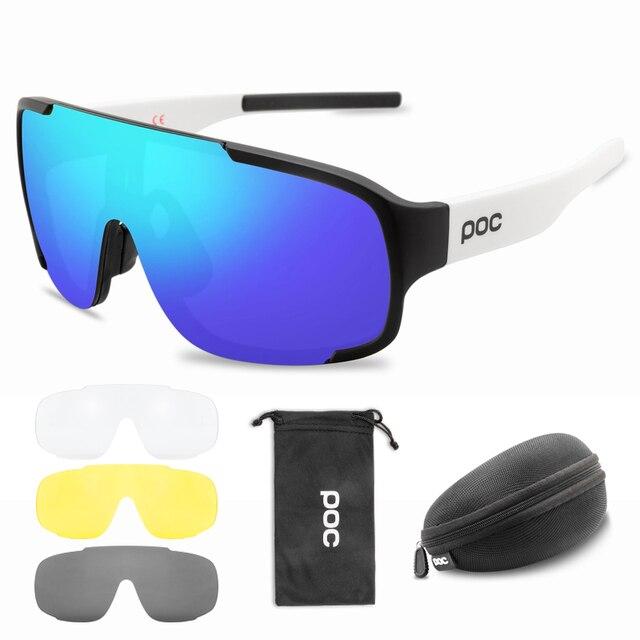 4 lentes conjunto poc crave ciclismo óculos de sol da bicicleta do esporte das mulheres dos homens mountain bike mtb ciclo eyewear 3