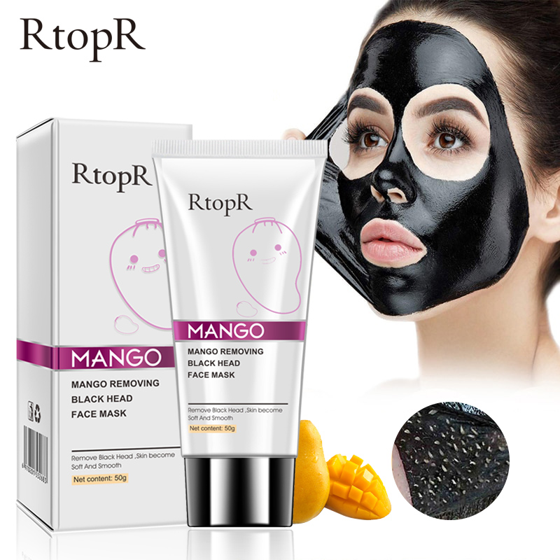 RTOPR Blackhead Remover Nose Mask Pore Strip Black Mask Peeling Acne Treatment Face Mask Deep Cleansing Oil-control