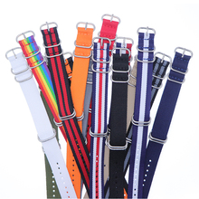1pcs Nylon Resistant Straps18mm 20mm 22mm 24mm Nylon Band Watch NATO Strap Zulu Watchband Buckle Ring купить недорого в Москве