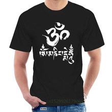 Yoga T-shirt Om Mani Padme Hum Burnout Tee Cotton Graphic Retro Tops Tee Shirt @075132