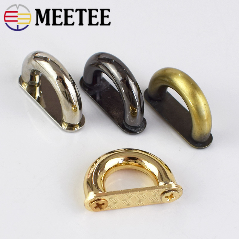 Meetee 5/10pcs 13mm Metal D Ring Buckle Connection Alloy Shoes Bags Buckles DIY Hardware Accessories Sewing Handmade AP523