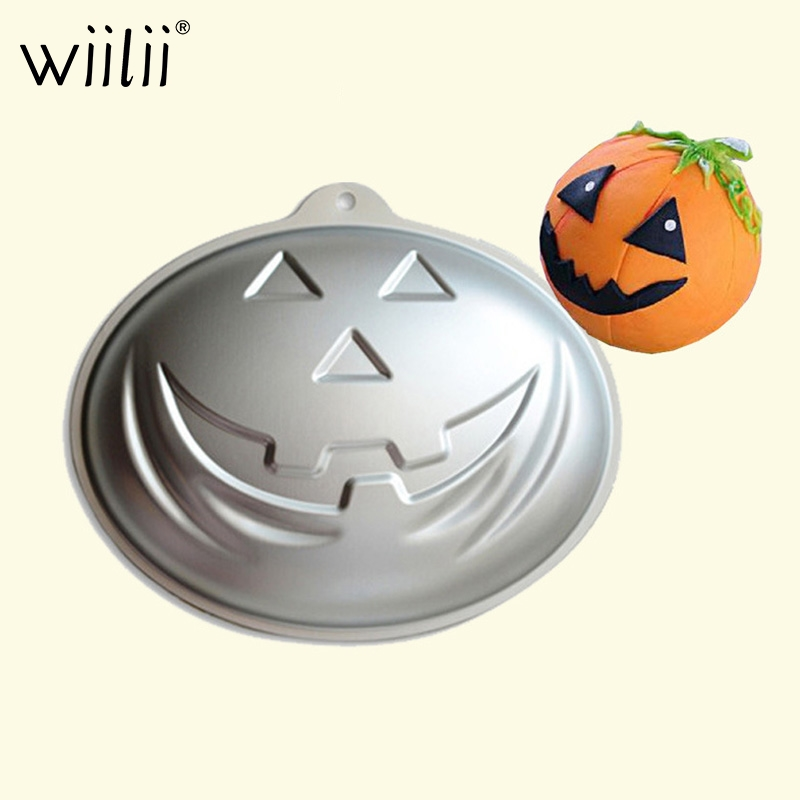 Grimace Pumpkin Cake Decoration Mold Halloween DIY Cream Cake Molds Aluminum Baking Pan For Bread Pastries Cookie Mould image