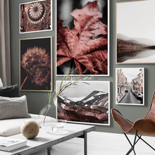 Wall Art Canvas Painting Autumn Dandelion Forest Hill Church Street Nordic Posters And Prints Pictures For Living Room