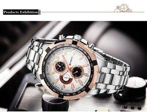 Image 4 - Erkek Kol Saati Curren מותג קוורץ שעון גברים עסקים שעונים עמיד למים Relogio Masculino שעוני יד מקרית Zegarek Meski