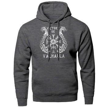 Odin Vikings Hoodies Men Sweatshirts Scandinavian Runes Hooded Sweatshirt Sons Of VikingWinter Autumn Valhalla Sportswear Mens 2