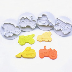 4PCS/set Airplane, Vehicle,Tank, Car Shape Plastic Biscuit Cookie Cutters Fondant Pastry Mold Cake Decorating Tools Candy Molds