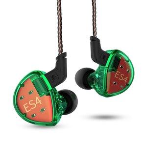 Image 3 - KZ ES4 dans les moniteurs doreille Armature et dynamique casque hybride écouteurs doreille écouteurs HiFi basse suppression de bruit crochets doreille écouteurs